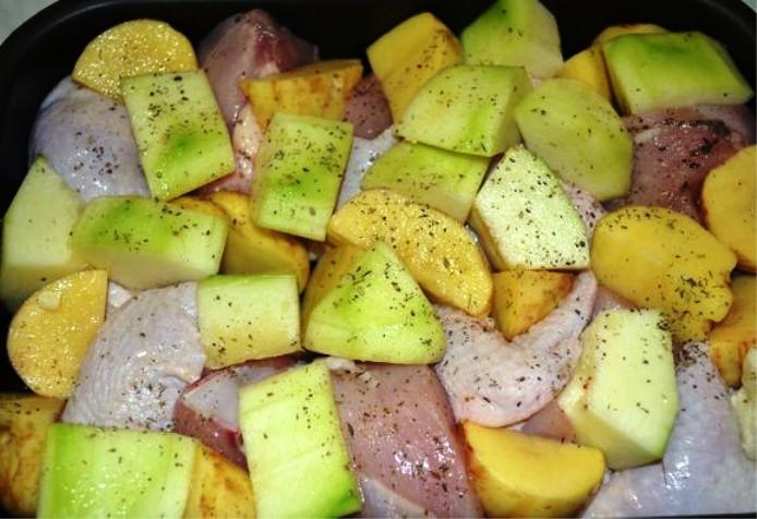 Курица с овощами в собственном соку - фото шаг 4