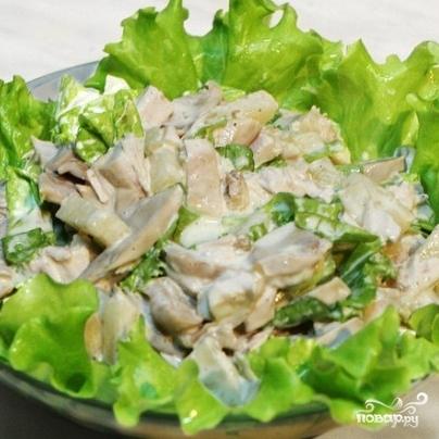 Салат из шампиньонов и яиц - фото шаг 5