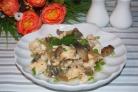 Филе индейки с грибами в духовке