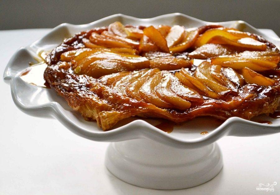 Рецепт Перевернутый грушевый пирог с шафраном