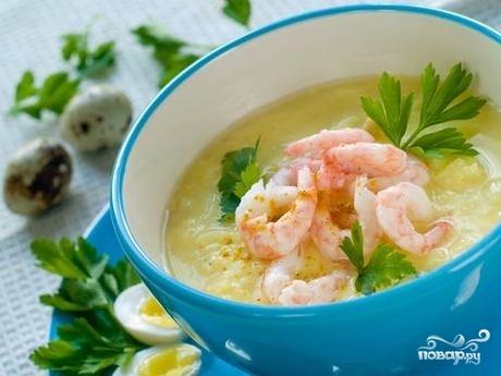 Рецепт Крем-суп с лисичками в мультиварке