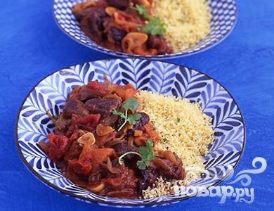 Рецепт Баранина с помидорами и сухофруктами