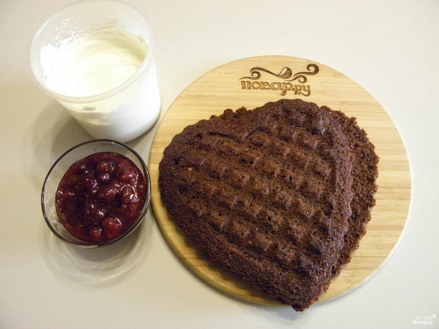 Торт в виде сердца - фото шаг 8