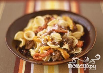 Рецепт Паста с колбасой и жареным перцем