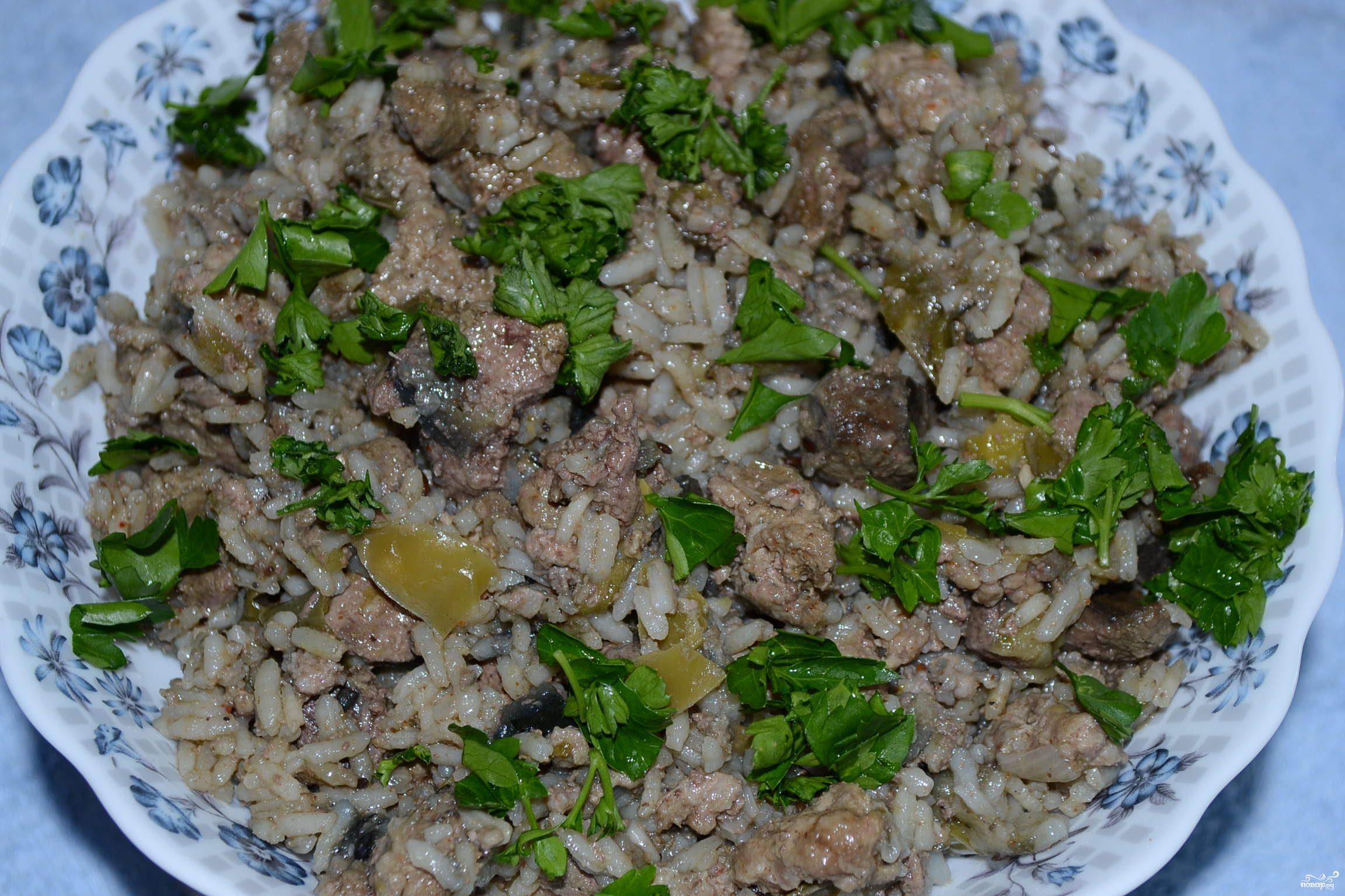 Рагу мясное с рисом и овощами