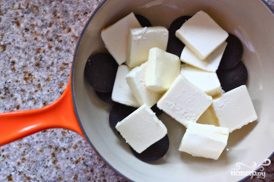 Шоколадные пирожные с солью - фото шаг 2