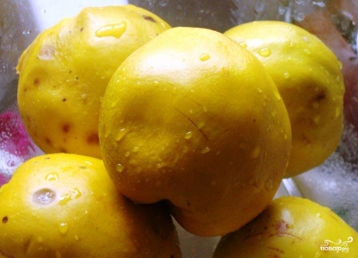 Варенье из айвы с лимоном - фото шаг 1