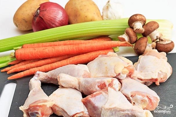 Рецепт Куриные ножки с овощами