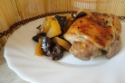 Курица в рукаве с черносливом