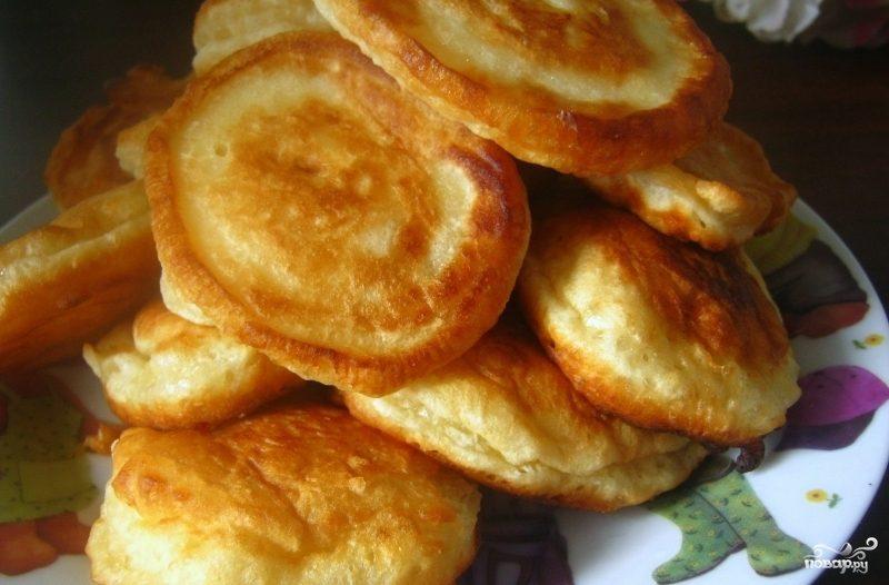 Рецепт пышных блинов на кефире и молоке