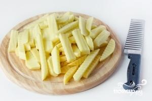 Картофель фри в духовке - фото шаг 3