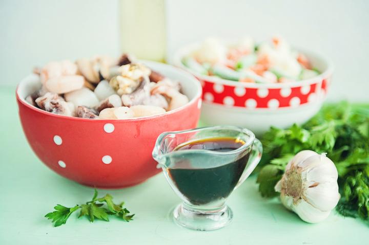 Рецепт Морской коктейль с овощами