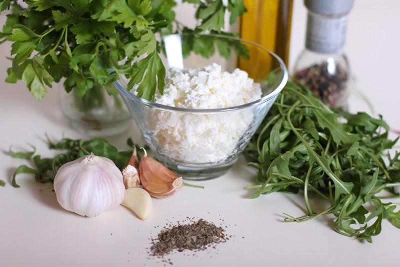 Рецепт Блинчики с творогом и зеленью