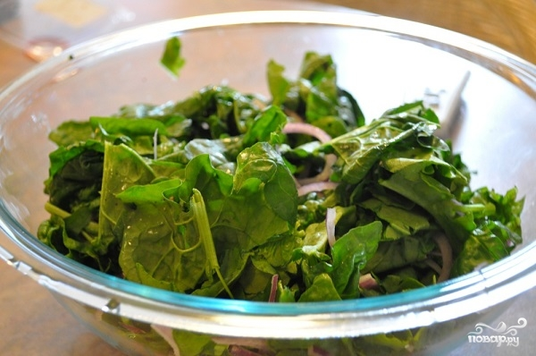 Салат с орехами и грибами - фото шаг 5