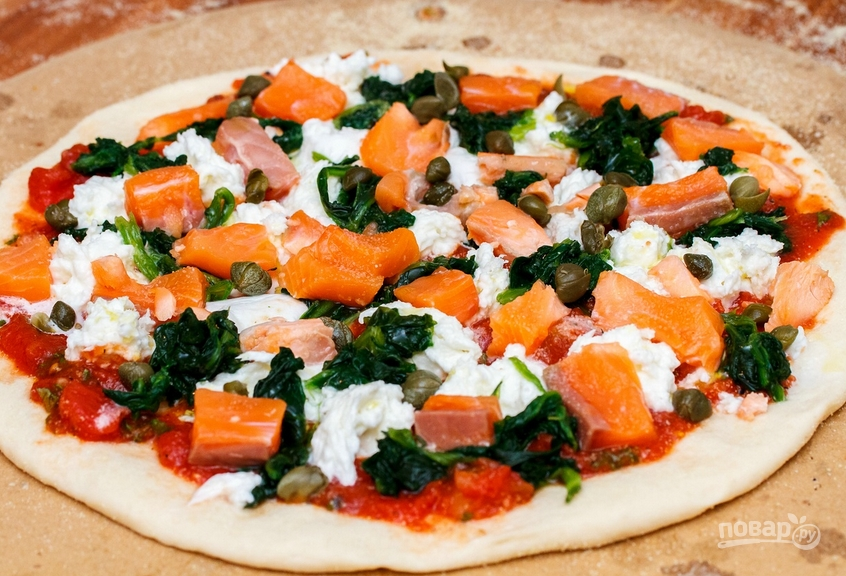 Пицца со шпинатом - фото шаг 5