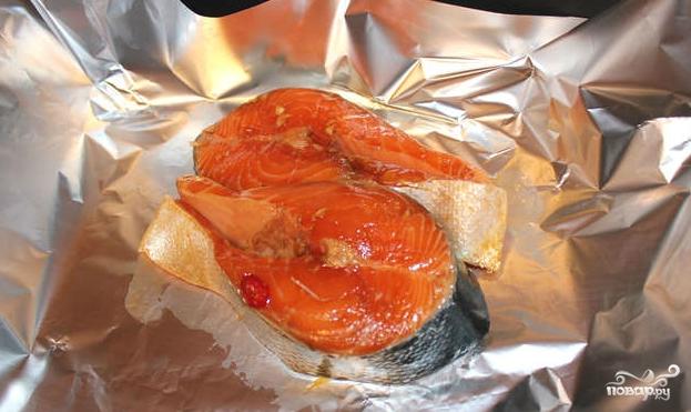 Маринад для лосося в духовке - фото шаг 5