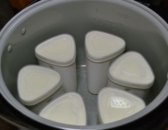 Йогурт с фруктами в мультиварке