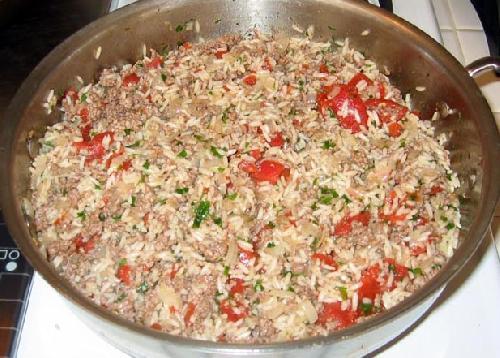 Говядина с жареным рисом по Итальянски - фото шаг 5
