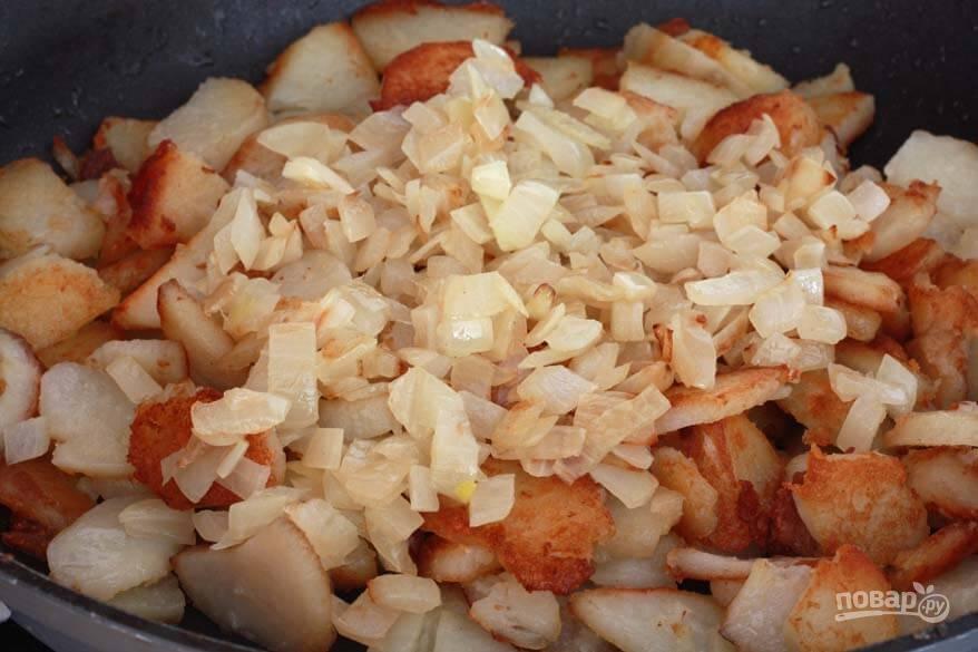 Пожарить картошку с луком на сковороде пошаговый рецепт