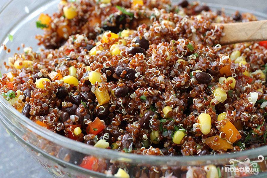 Салат с квиноа и фасолью - фото шаг 4