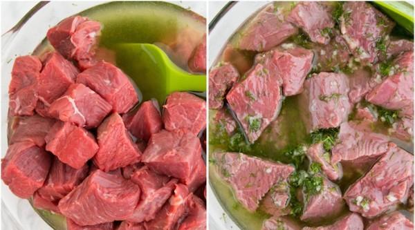 Шашлык из говядины с луком и перцем - фото шаг 4