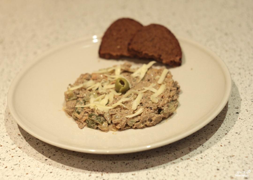 салат печень с солеными огурцами рецепт с фото