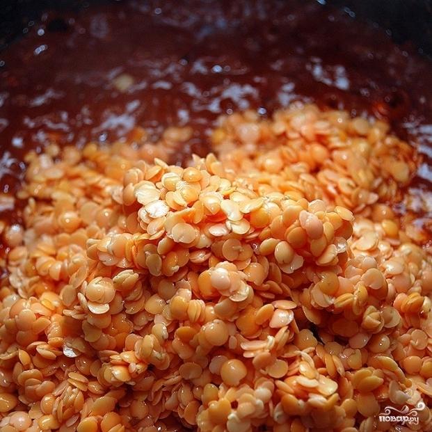 Суп из красной чечевицы - фото шаг 7
