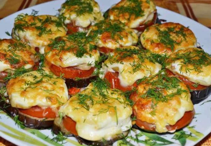 Баклажаны фаршированные в духовке с грибами
