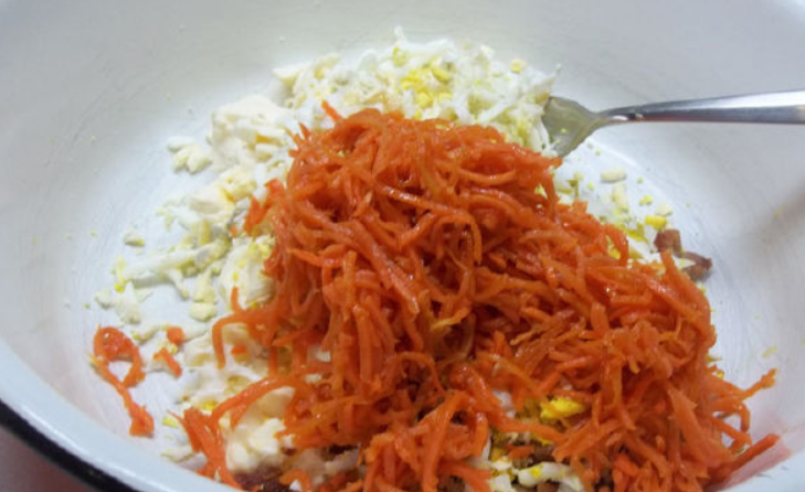 Лаваш с курицей и корейской морковкой - фото шаг 2