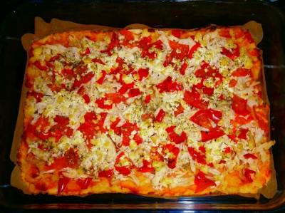 Диетическая пицца без муки - фото шаг 7