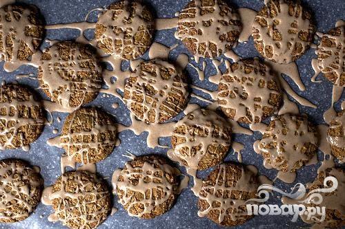 Овсяное печенье с глазурью