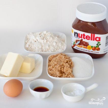 Печенье с Нутеллой и кремом - фото шаг 1