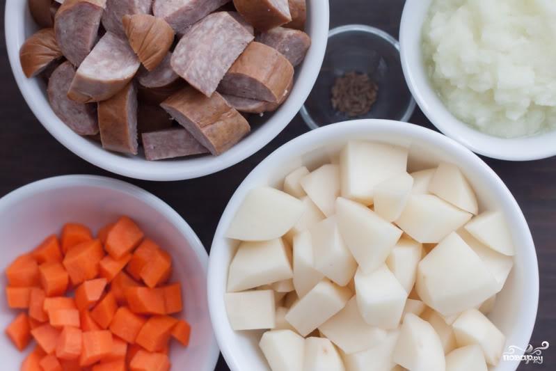 Рецепт Немецкий суп с колбасками