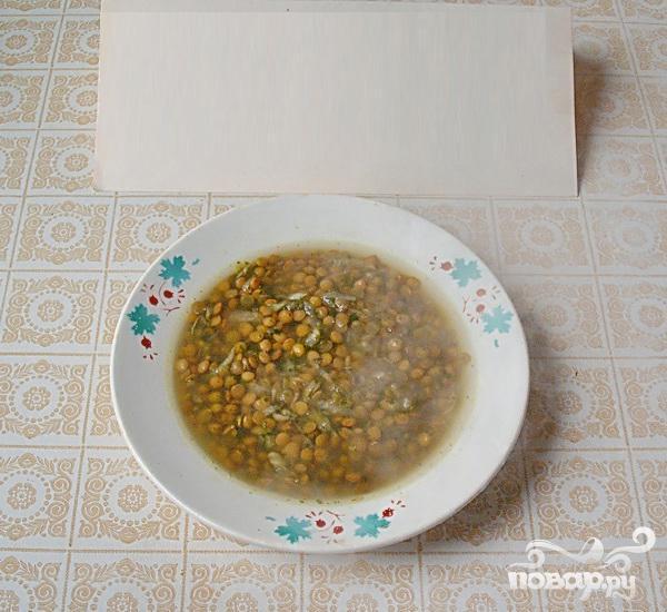 Чечевичная похлебка с сельдереем и шпинатом - фото шаг 5