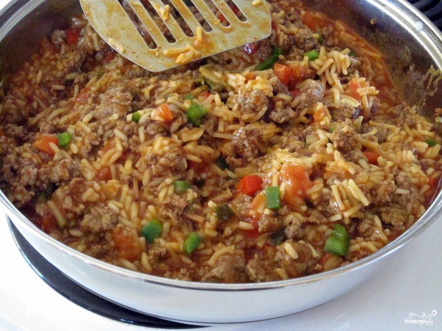 Говядина с жареным рисом по Итальянски