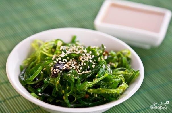 Рецепт Простой салат из морской капусты