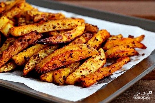 жареная картошка со сметаной в духовке рецепт