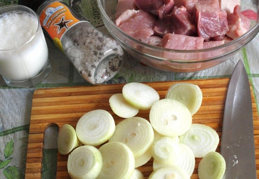 Рецепт Шашлык на кефире из говядины