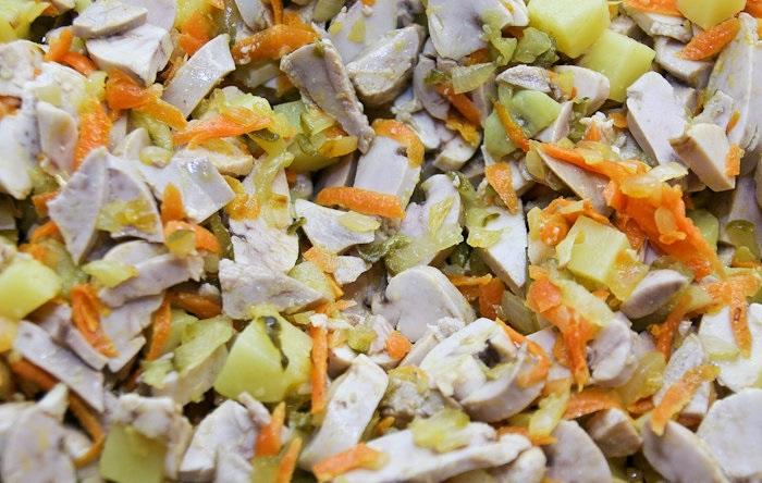 Салат с молоками лососевых рыб - фото шаг 8