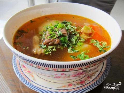 Рецепт Шурпа из говядины с нутом