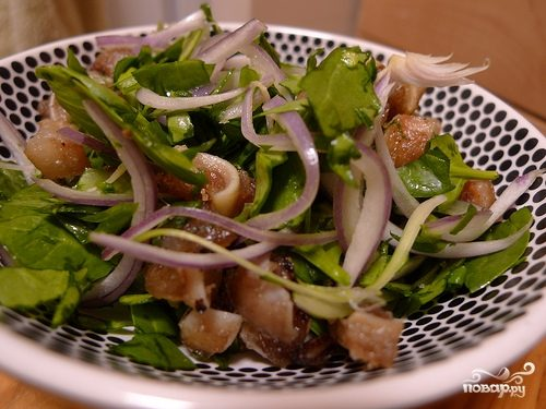 Рецепт Cвиные ушки жареные с луком