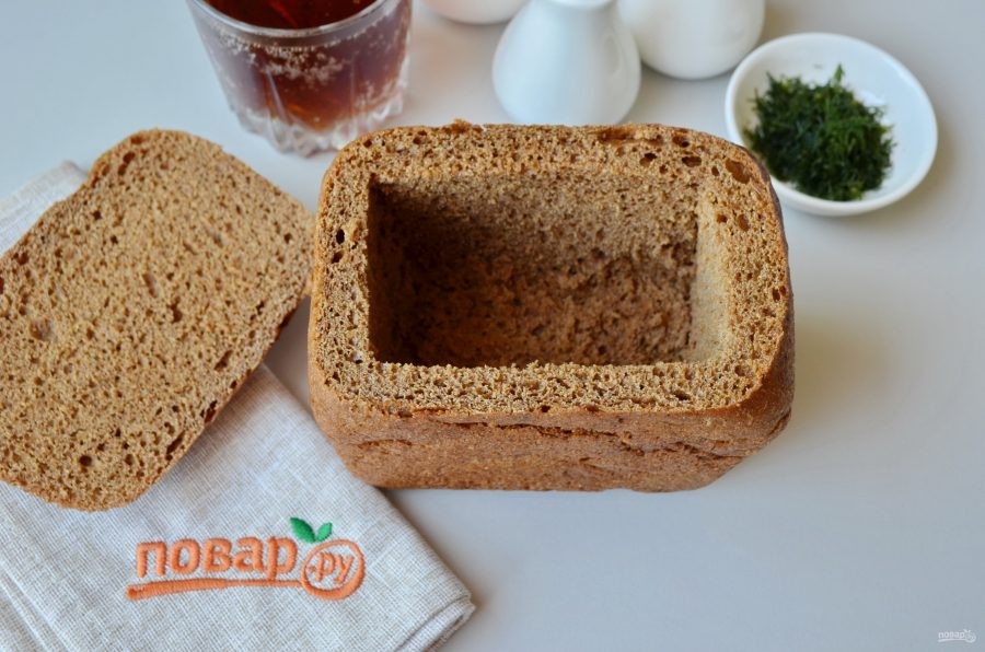 Окрошка в хлебе