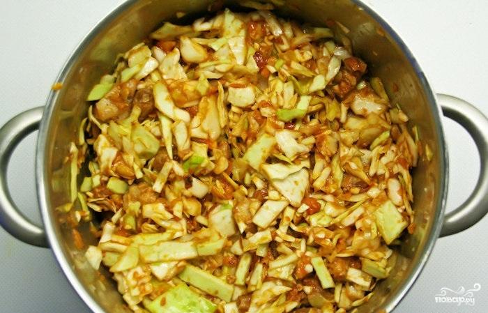 Солянка капустная - фото шаг 4