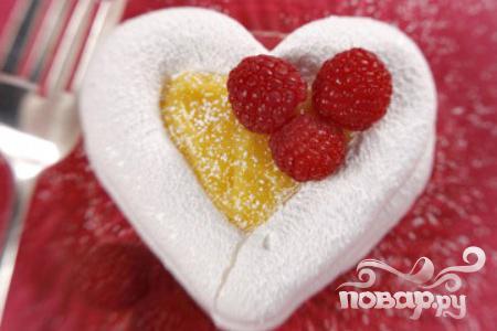 Рецепт Меренги-сердечки с фруктовой начинкой