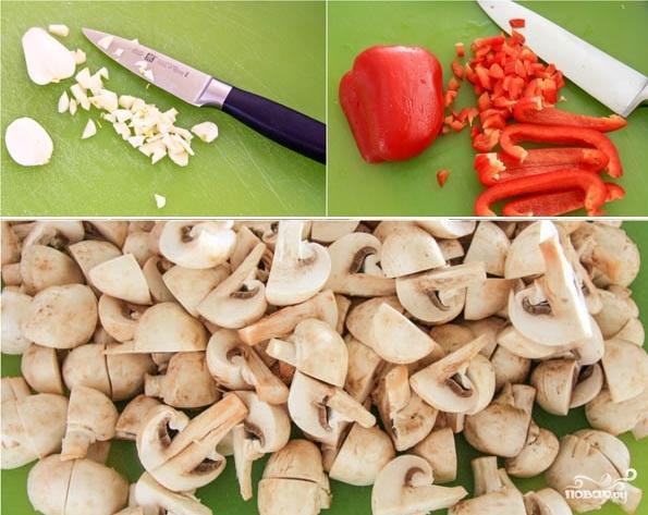 Вкусная закуска из грибов и перца - фото шаг 1