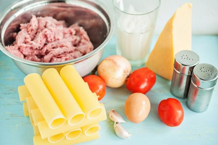 Рецепт Каннеллони с куриным фаршем