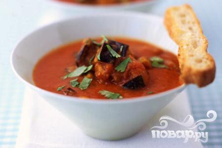 Рецепт Суп с помидорами и баклажанами