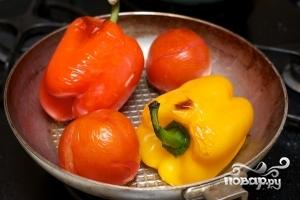Салат из запеченных перцев - фото шаг 2