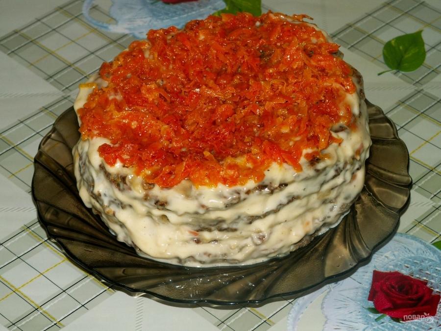 рецепт печеночный пирог в духовке рецепт