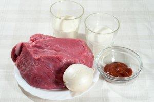 Рецепт Подлива из говядины со сметаной